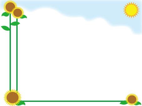 Sunflower and the sun