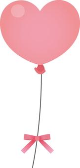 Heart balloon (pink)