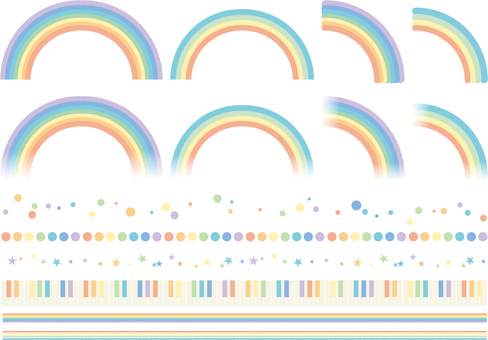 Rainbow material