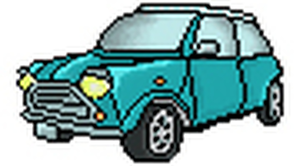 Mini Cooper (light blue)