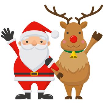 Santa and reindeer-01