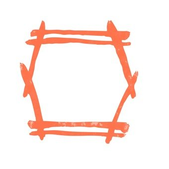 Japanese style frame (Orange)