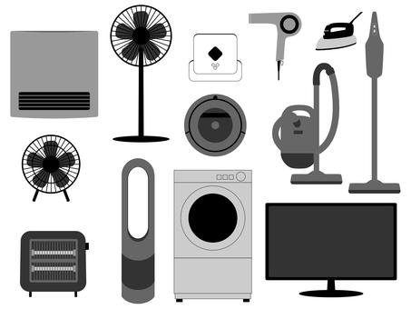 Consumer Electronics Set Monotone