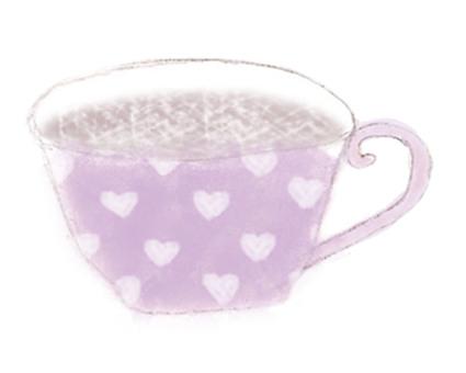 Coffee cup purple