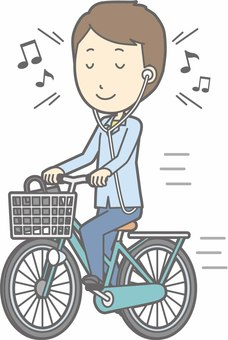 Bicycle man - Bicycle music - whole body