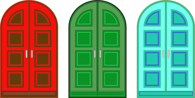 Door 3 colors
