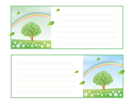 Notepad of one tree scenery