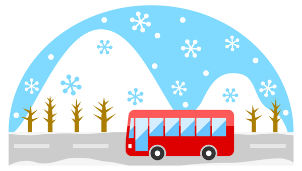 Winter bus travel image