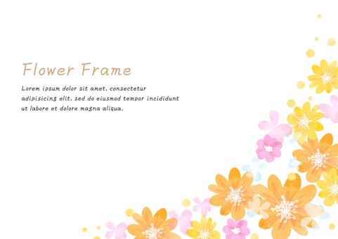 Girly Material 045 Flower frame set