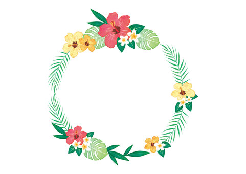 Tropical Flower Frame 1
