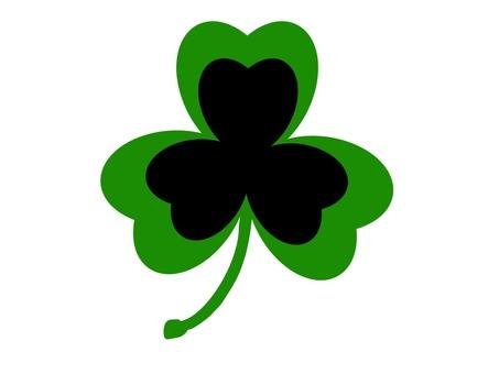 St Patrick's Day Shamrock Black