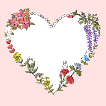 Heart bouquet background pink