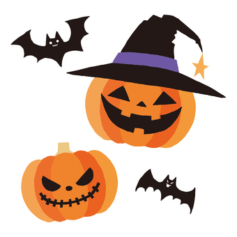 Halloween Pumpkin and Bat