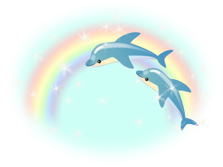 Dolphin ~ A friendly jump to the rainbow ~