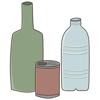 空缶、空瓶、空のペットボトル