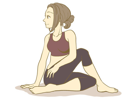 Woman doing yoga 01
