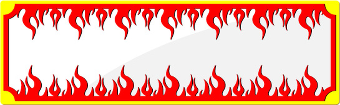 Fire frame frame flame