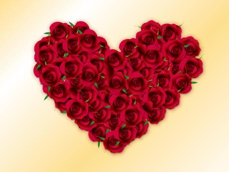 Heart shaped rose 3