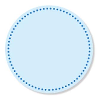 Stitch - circle pattern - blue