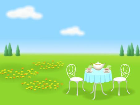 Gardening tea party