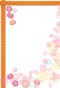 Plum & chrysanthemum & amp; lattice mold 様