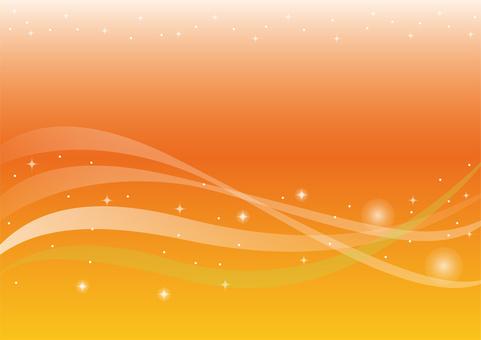Glitter wave orange background
