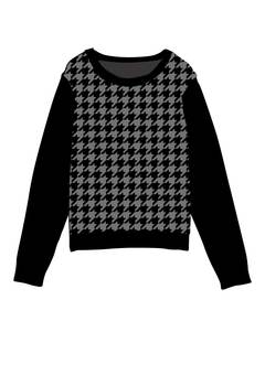 Houndstooth pattern sweater