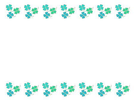 四葉三葉草框架(綠色)