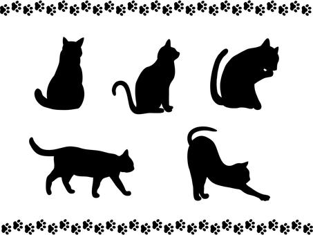 Cat's silhouette