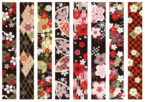 Japanese style decorative line line 11 Spring