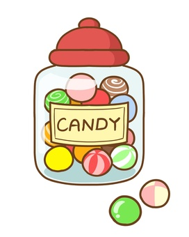 Candy and candy pot