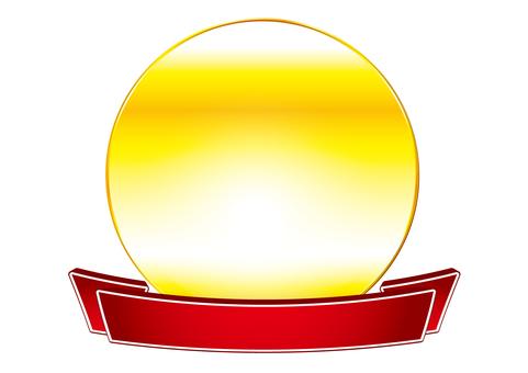 Gold _ circle emblem
