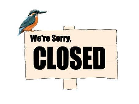 Kingfish signboard closed