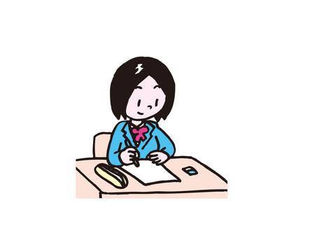 공부하는 여자