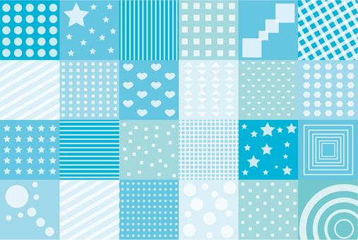 Wallpaper - Patchwork S - Blue series
