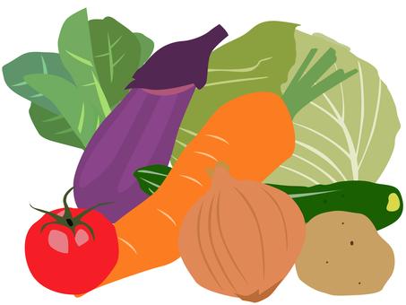 Multiple vegetables