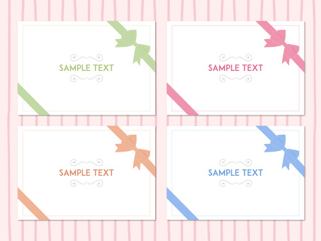 Pastel ribbon message card