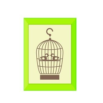 Wall hanging (bird cage)