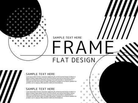 Monochrome simple frame <01>