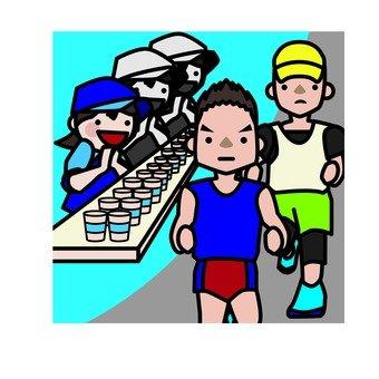 Marathon volunteer