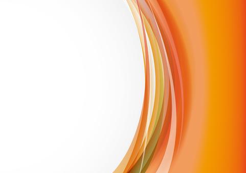 垂直的波浪 - 橙色
