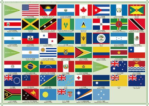 世界の国旗セット4/アメリカ、オセアニア