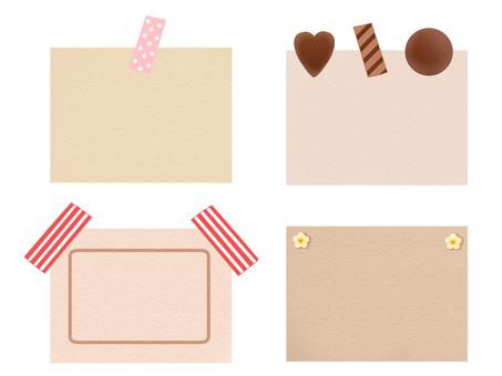 Kraft paper-like message card