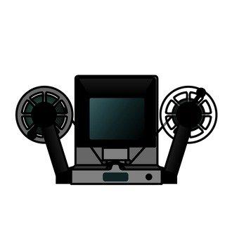 Film editing machine