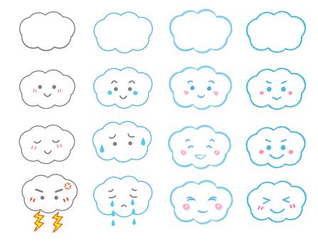 Cloud illustration set