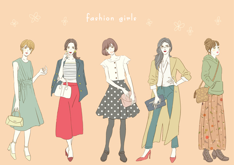 Female fashion full body color ver.
