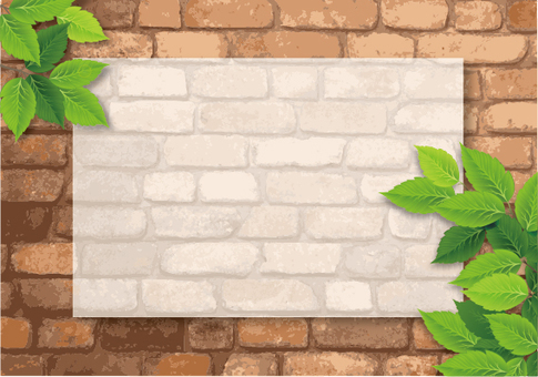 Brick and green frame