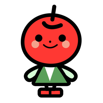 Simple apple character