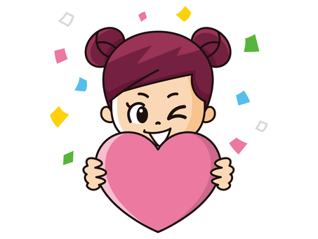 A girl with a heart