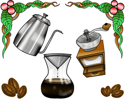 Coffee material illustration 2